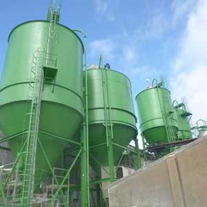Corrosion Protection via the Preparation and Painting of 5No Silos - Marley Eternit, Meldreth